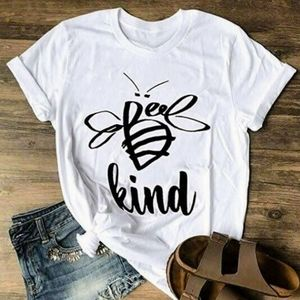 New Bee Kind Comfy Casual Graphic T-shirt Top